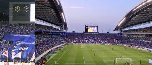 国立競技場とさいたまスタジアム2002