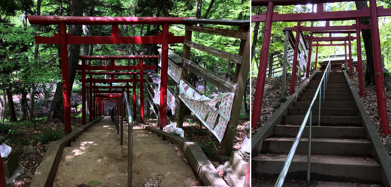 羊山公園の稲荷神社の階段
