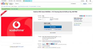 再購入したVodafone IE。起源までに届くか...