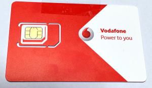 届いたVodafone IEのSIMカード