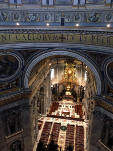 サン・ピエトロ大聖堂の天井部分に出る