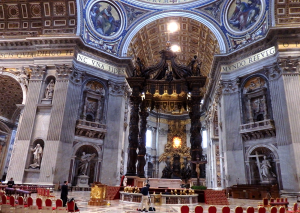 サン・ピエトロ大聖堂突き当たり
