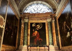 カラヴァッジョの「聖マッテオ」の三部作がある