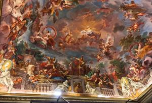 メインの部屋の天井画