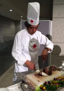 カナダ料理が得意な重田宏シェフ