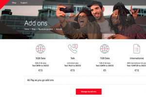 Vodafone IEのアイルランド国内の料金プラン一覧