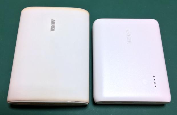 ANKERの新旧のモバイルバッテリー