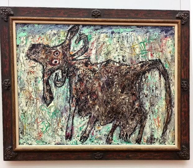 ジャン・デュビュッフェの「美しい尾の牝牛」(1954年)