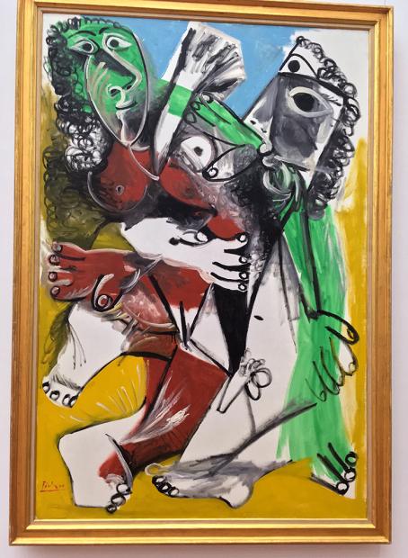 誰が見てもわかるピカソの作品。「男と女」(1969年)