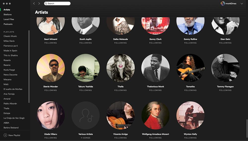 Spotifyのアーティスト名を英語表記に