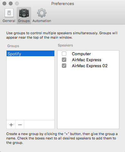 2つのAirMac Expressが選択可能