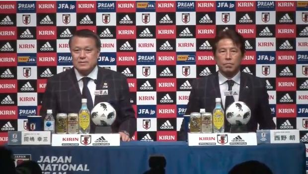 西野朗日本代表新監督会見