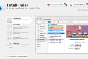 乗り換えしたファインダー拡張「TotalFinder」
