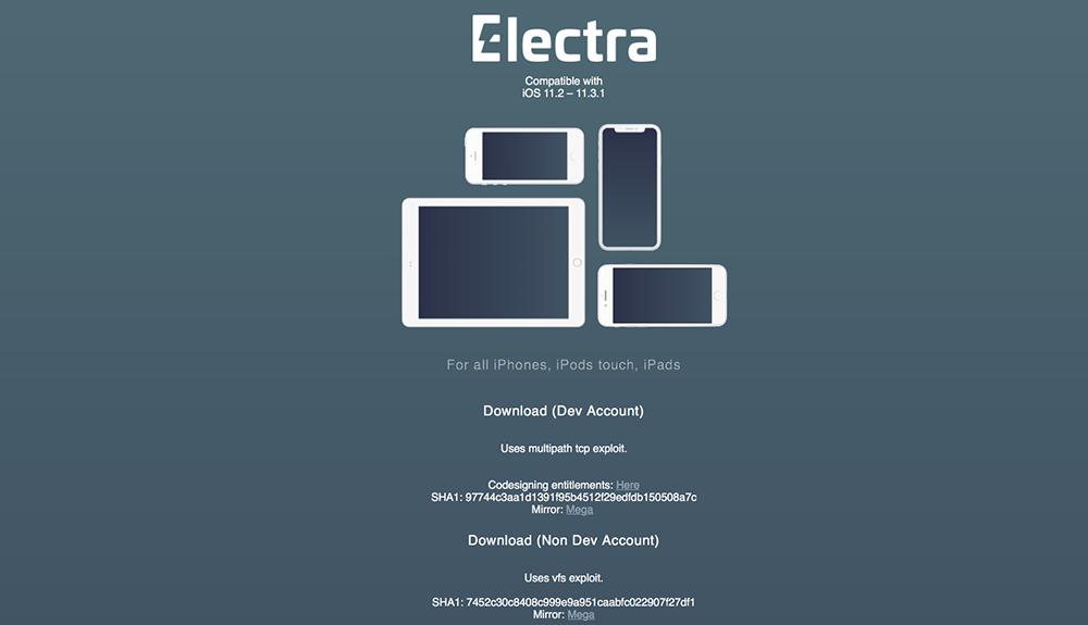 リリースされたiOS11.3.1用脱獄ツール「Electra」