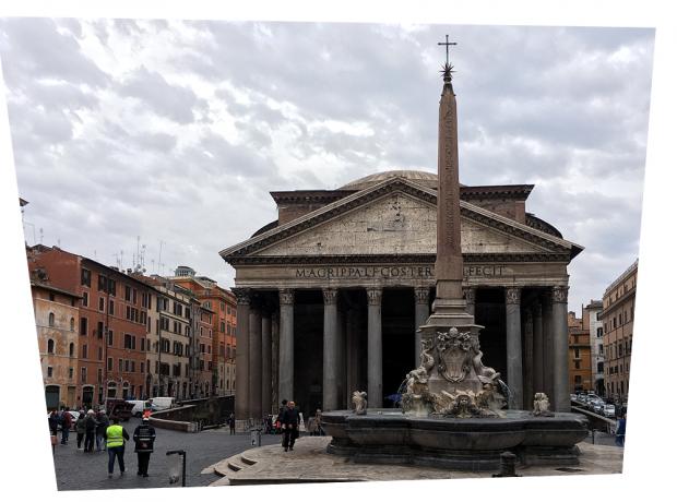 ローマのパンテオン(補正後)
