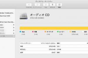 グレーアウトして音楽CDがマウントできない