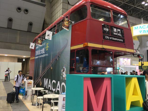 マカオブースの2階建てバス