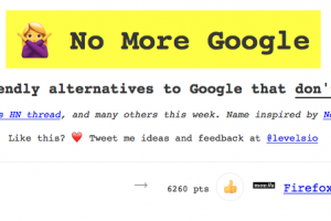 「No More Google」