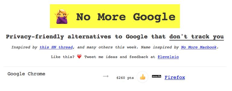 「No More Google」
