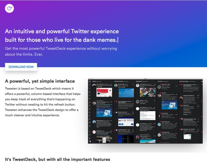 「Tweeten」をインストール