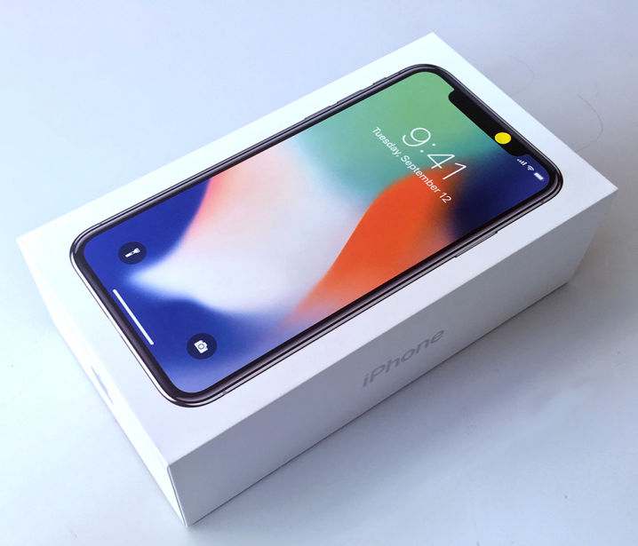 未使用品「iPhone X/64GB/シルバー」