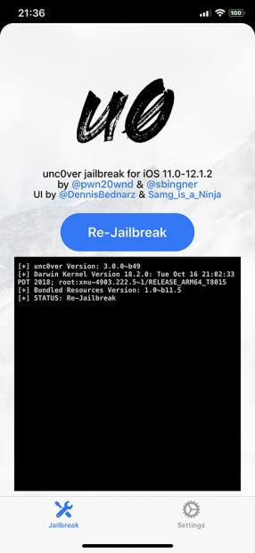 「iOS12.1.2」用の脱獄ツール「unc0ver」