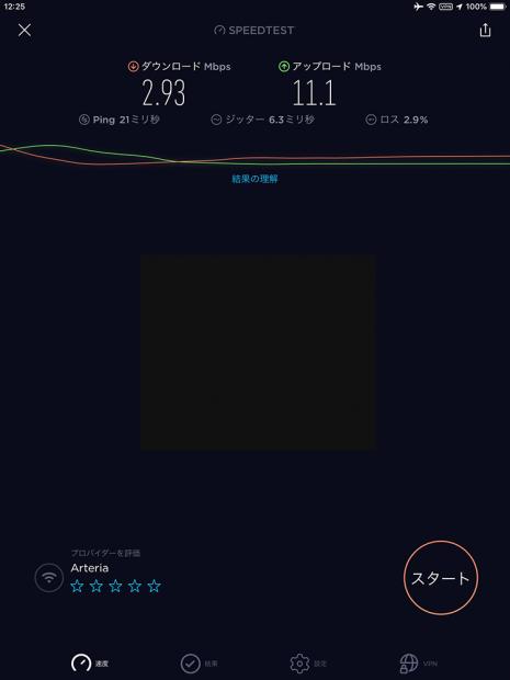 2回線目のVPN速度