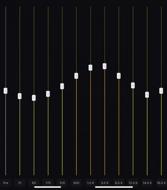 「SOUNDPEATS 」の完全ワイヤレスイヤホン「Q32」用に調整したイコライザー数値