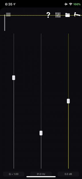 「iOS12.x」版から周波数もバンド数もカスタマイズできるようになった