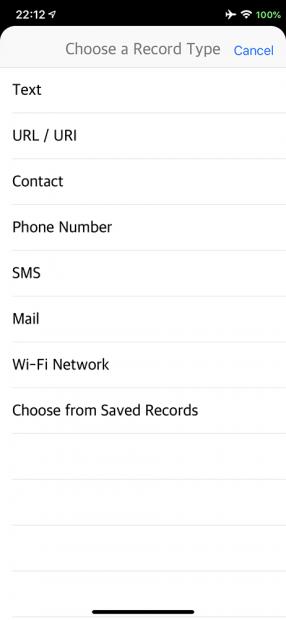 脱獄アプリ「NFCWriter XS」のメニュー