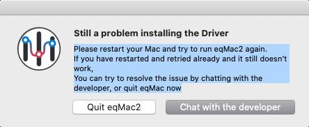 「macOS Catalina」上の「eqmac2」インストール不可のアラート