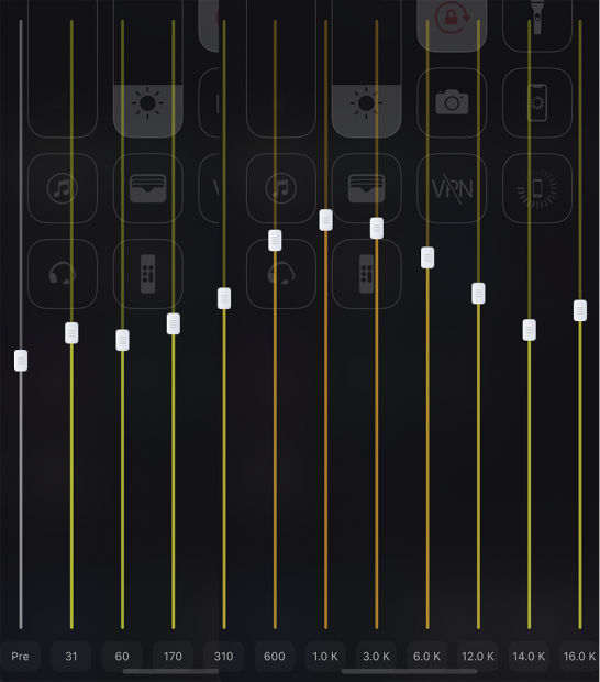 脱獄アプリ「EQE」でイコライジング設定