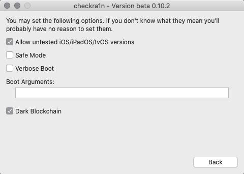 前回同様「Allow untested iOS/iPadOS/tvOS versions」項目をチェックする