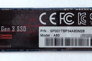 「シリコンパワー」の「SP001TBP34A80M28 1TB」