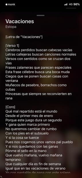 「Lyricize」の歌詞画面