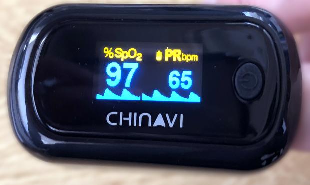 「パルスオキシメーター」初めての測定。正常値!