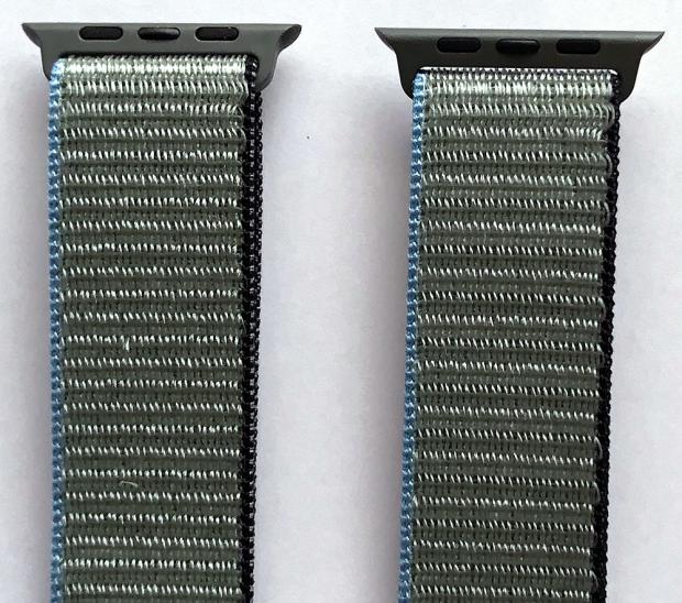 「インバネスグリーン」の比較。逆側の接合部も同じにしか見えない