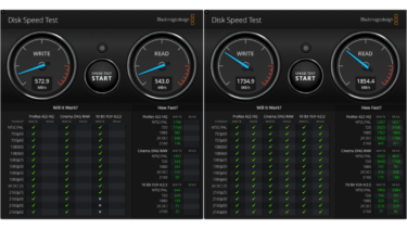 「Disk Speed Test」によるスピードチェック