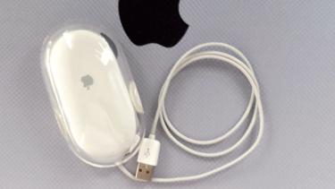 15年以上前の「Apple」純正USB有線マウス。