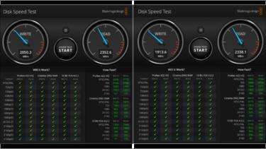 スピードテストの比較